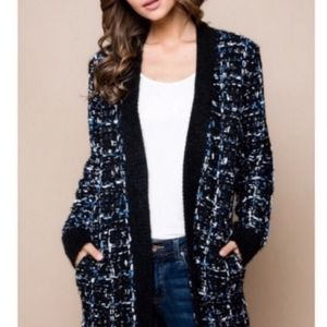 Comfy Tweed Work From Home Cardigan